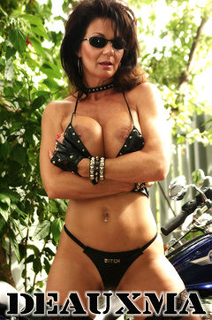 Deauxma with a kinky leather bikini.jpg