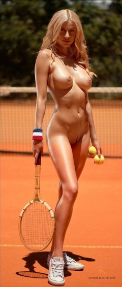Naked female tennis players