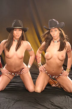 Naked twins with big boobs