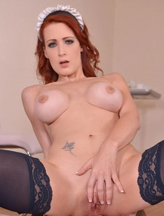 Natural Redhead Isabella Lui Taking Anal Penetration After