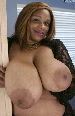 Thick big boobed black girl takes white cock 4