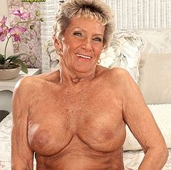 Nude woman with long nipples