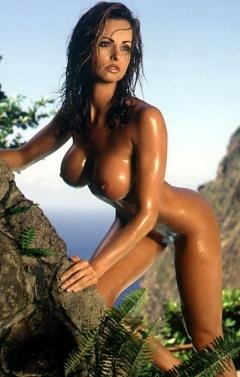 Nude woman profile face hidden