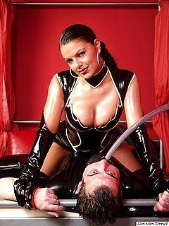 Porn Images Busty strap-on mistress femdom ballbusting galleries