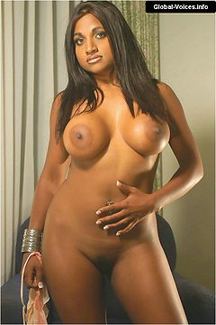 Naked women with big tits caught in shower