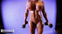boobs muscles Women big